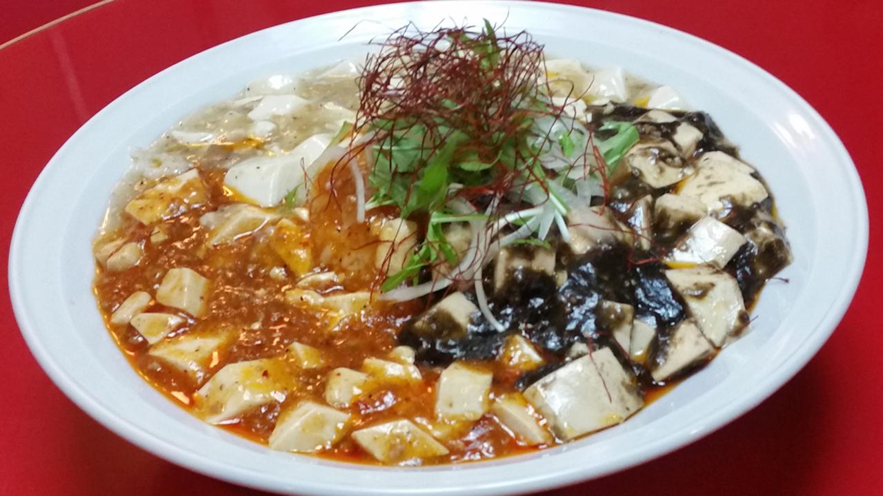 三彩色麻婆豆腐_烩飯