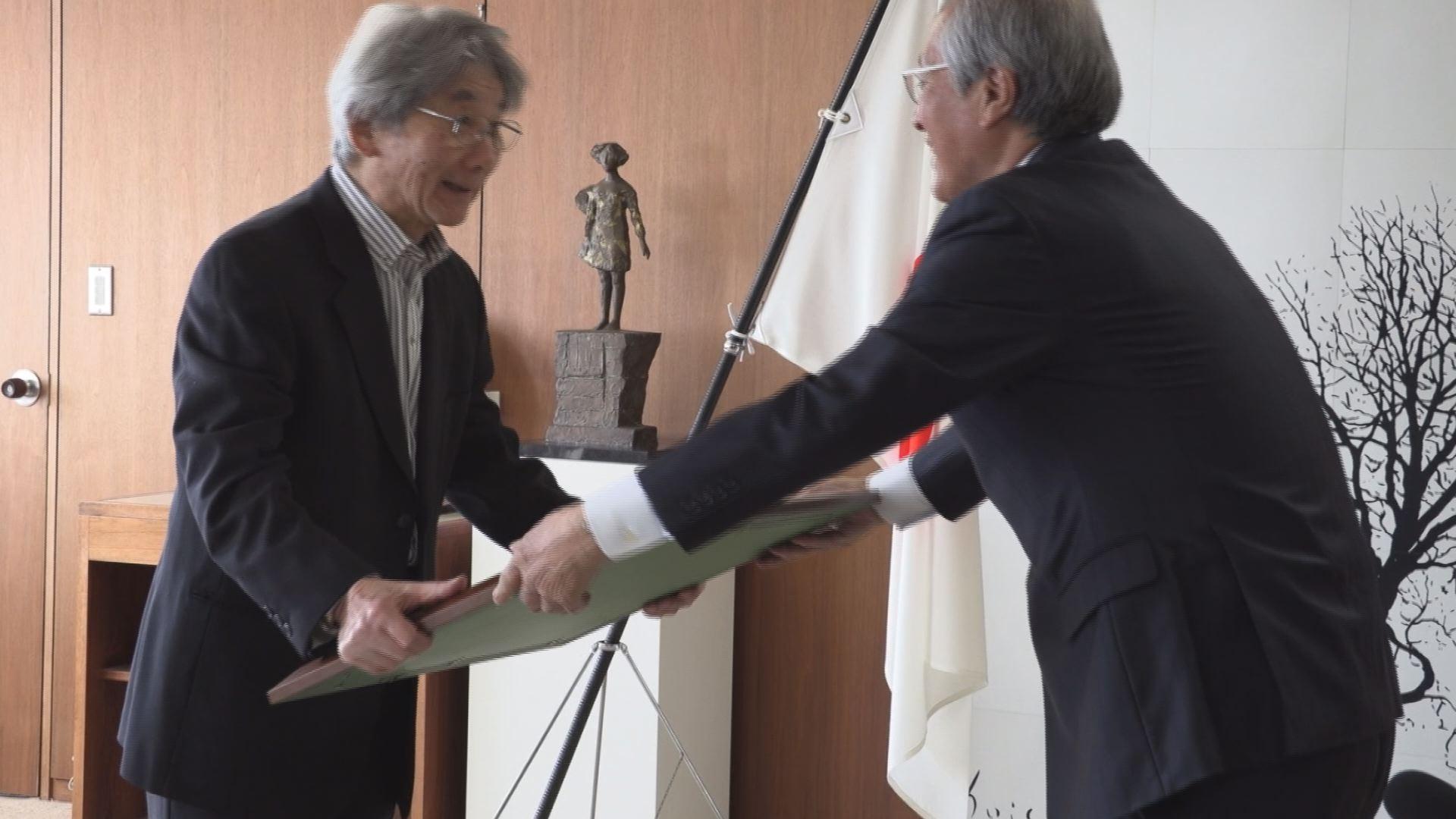 彫刻家の峯田敏郎さんが紺綬褒章を受章!   ニュース   上越妙高タウン情報