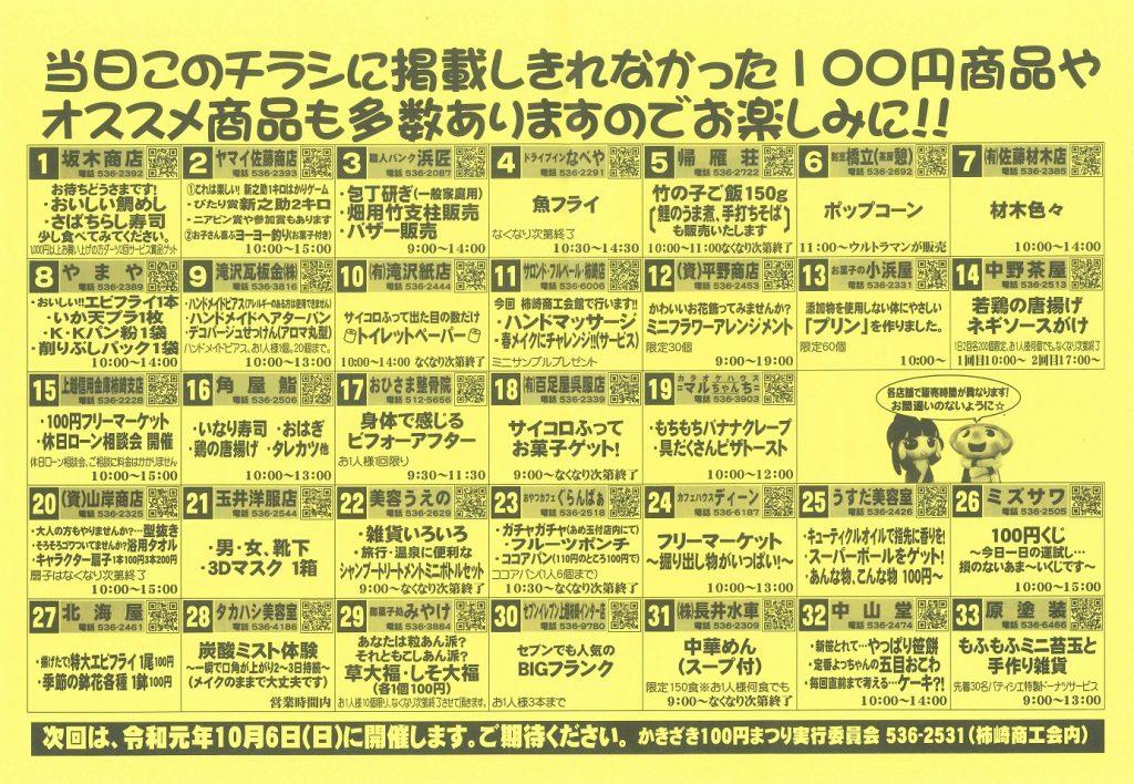100円まつり2019