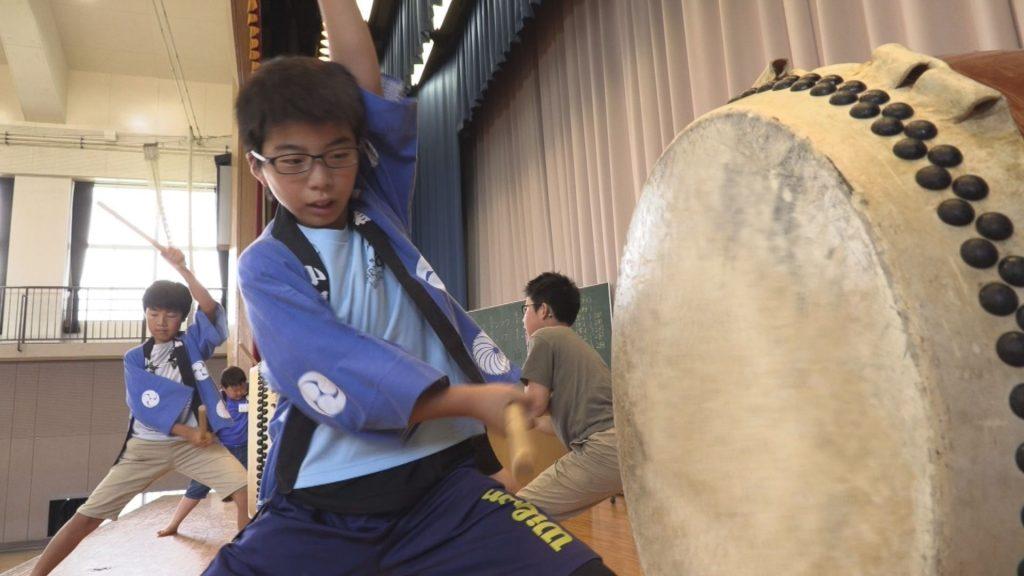 190710_妙高小 火祭りに向け太鼓練習