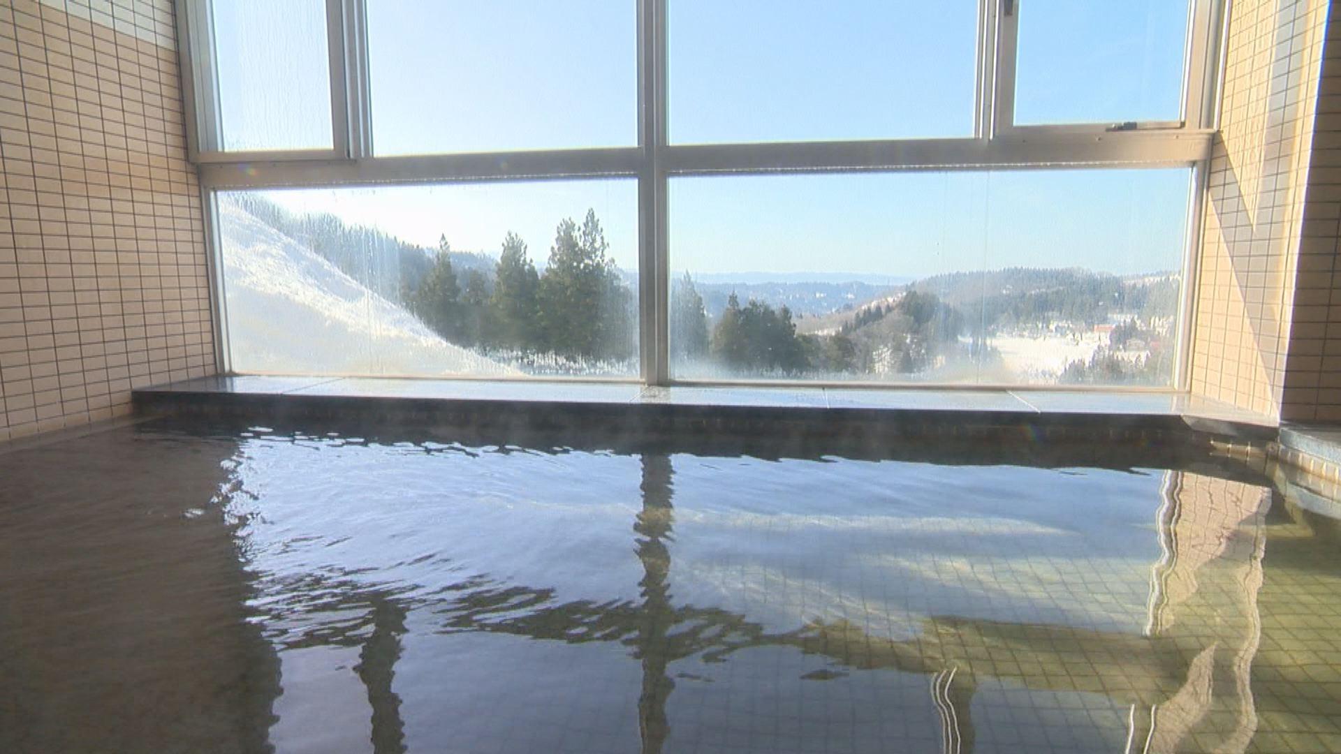 深山荘風呂からの景色