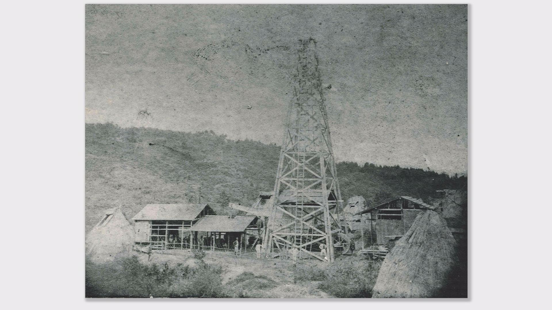 油田(明治初期の当時の写真)