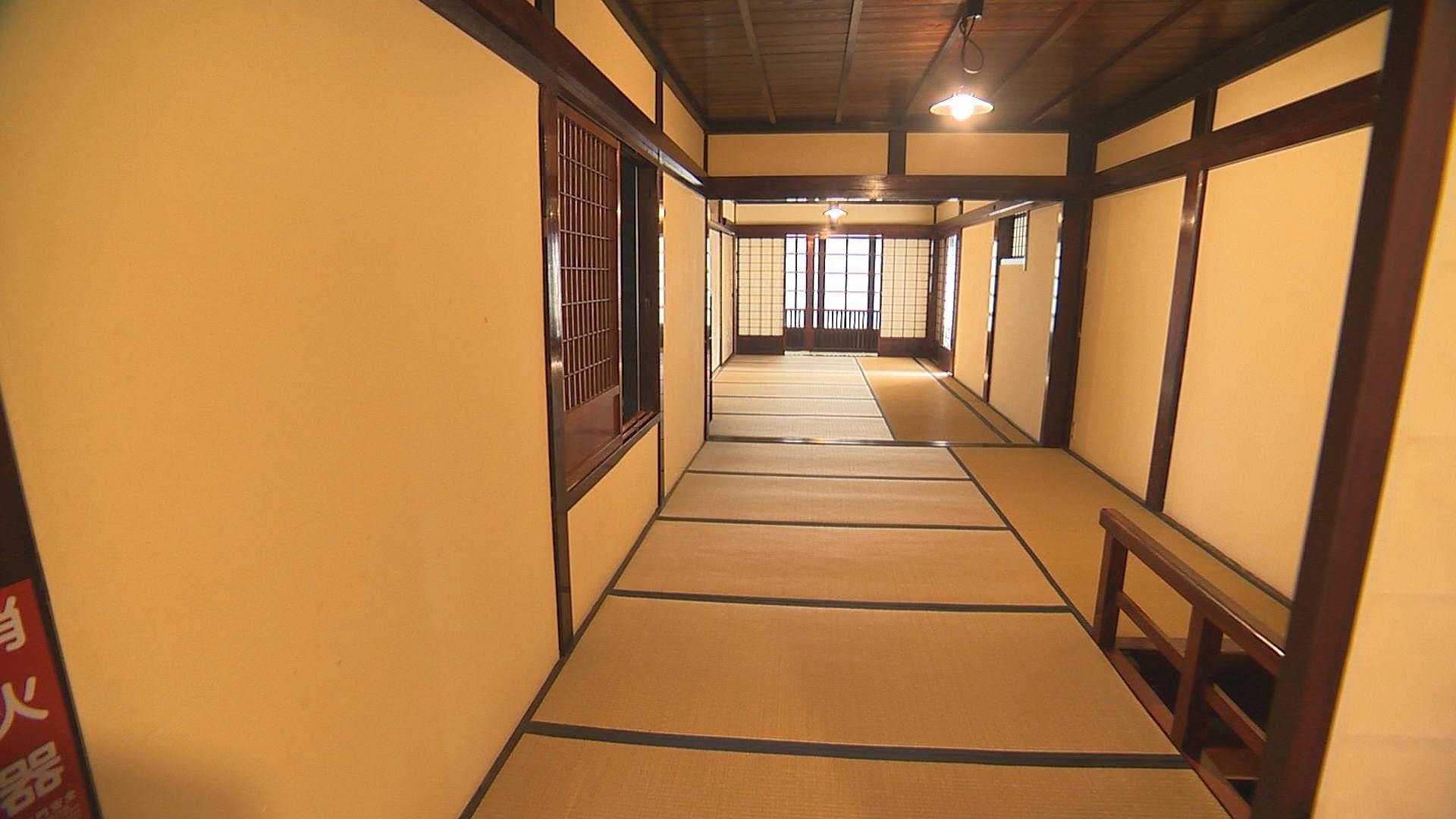 清九郎2階廊下